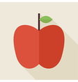 Flat Apple Fruit with long Shadow vector image vector image