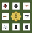 flat icon dress set of lingerie uniform clothes vector image