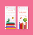 flyer template with international literacy day vector image vector image