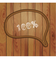 frame of rope and wood background vector image vector image