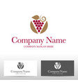 grape fruit logo design vector image vector image