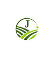 green project solution center initial j vector image vector image