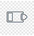 half battery concept linear icon isolated on vector image