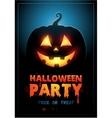 Halloween party design template with pumpkin