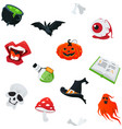 happy halloween - modern colorful seamless vector image
