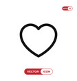 heart icon lovelike symbol flat sign isolated on vector image vector image