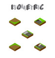 isometric way set of subway sand turn vector image vector image