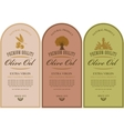 labels for olive oils vector image vector image