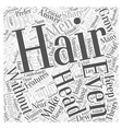 make your hair grow faster Word Cloud Concept vector image vector image