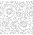 Monochrome seamless pattern with decorative peony