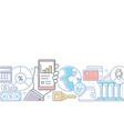 online banking - modern line design style vector image