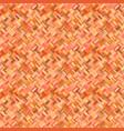 orange geometrical diagonal rectangular mosaic vector image vector image