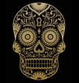 ornate one color sugar skull vector image vector image