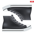 pair of high top canvas sneaker mockup vector image vector image