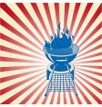patriotic barbeque vector image vector image