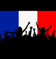 people silhouettes celebrating france national day vector image vector image