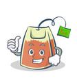 proud tea bag character cartoon vector image vector image