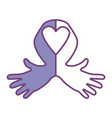 ribbon cancer symbol vector image