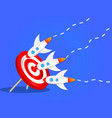 rockets hit the target seo targeting goal vector image