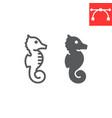 seahorse line and glyph icon sea and ocean vector image vector image
