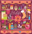 selection of design elements of an easter subject vector image vector image
