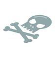 skull bone icon isometric style vector image