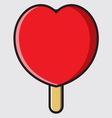 Sladoled srce vector image