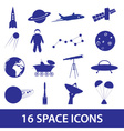 space icon set eps10 vector image