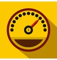 Speedometer icon in flat style vector image vector image