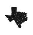 texas state silhouette in style handmade vector image
