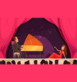 theater opera performance flat vector image vector image