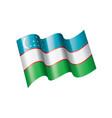 uzbekistan flag on a white vector image vector image