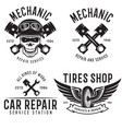 vintage car service badges templates emblems and vector image vector image