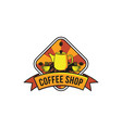 vintage coffee shop logo inspiration isolated on vector image vector image