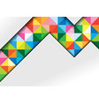white geometric background with colorful squares vector image vector image