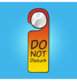 hotel tag do not disturb vector image
