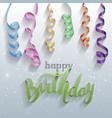 happy birthday gift card confetti vector image