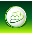 Molecule Icon isolated glossy shiny atom vector image