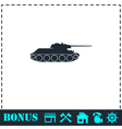 Tank military icon flat vector image