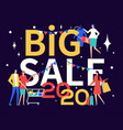 2020 big sale advert colorful banner vector image vector image