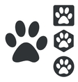 Animal icon set monochrome vector image