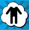 baby clothes sign black icon in bubble on vector image vector image