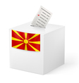 Ballot box with voicing paper Macedonia vector image vector image