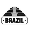 brazil country logo simple black style vector image vector image