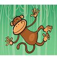 cartoon funny monkey vector image