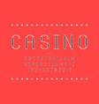 casino font alphabet vector image