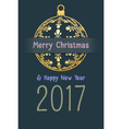 christmas and new year 2017 background vector image vector image