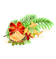 christmas and new year decorative christmas vector image