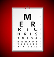 Christmas eye test chart as xmas card vector image