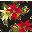 Christmas poincettia seamless vector image vector image